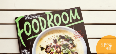 Suppe mag Brot wird in der Januar/Februar Ausgabe 2018 des Magazins FoodBoom vorgestellt. Design: RORE DESIGN - Grafikdesign aus Landau.